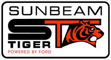 "#718 5"" Sunbeam Tiger V8 Decal Sticker Powered By Ford Laminated"