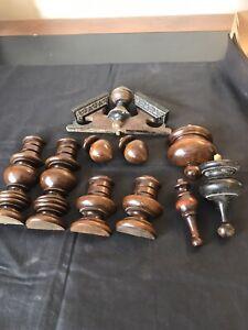 Various Wooden Clock Decorations .. Finials Etc #4