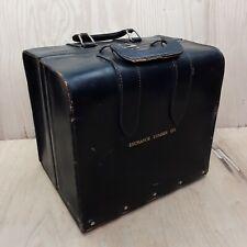 Vintage Master Products 3 - Slot Catalog Case Top Grain Saddle Leather Bag Black