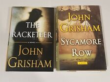 John Grisham Lot of 2 - Sycamore Row AND The Racketeer HC/DJ BOTH 1st EDITIONS