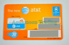 Lot Of 5 New At&T Cell Go Phone 3G Prepaid 3G Sim Card