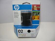 HEWLETT PACKARD Vivera HP 02 C8721WN Black Ink Photosmart Cartridge New lot