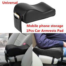 Leather Car SUV Center Console Armrests Increased Pad With Mobile Phone Storage