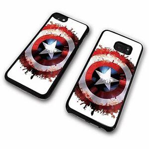 Captain America Vibranium Shield Avengers Splatter Art Phone Case Cover