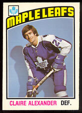 1976 77 OPC O PEE CHEE #321 CLAIRE ALEXANDER NM TORONTO MAPLE LEAFS HOCKEY CARD