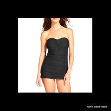 MERONA NEW 1 Piece BLACK Crochet Lace SWIM SUIT DRESS Womens S SMALL Swimdress