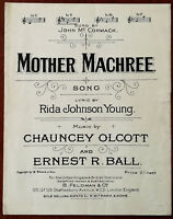 Mother Machree by Rida Johnson Young, Chauncey Olcott & Ernest R. Ball – 1921