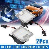 2PCS LED Side Mirror Puddle Light For Ford Mondeo MK4 Focus Kuga Dopo