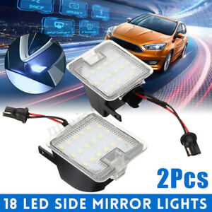 2PCS LED Side Mirror Puddle Light For Ford Mondeo MK4 Focus Kuga Dopo  ##