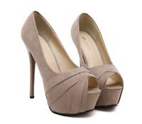 New 15 CM High Slim Heels Sandals Stilettos Platform Open Toe Womens Party Shoes