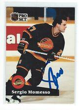 Sergio Momesso Signed 1990/91 Pro Set Card #242