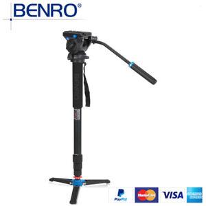 BENRO A38TDS2 Professional Tripod Kit Aluminum Monopod Hydraulic Pressure Head