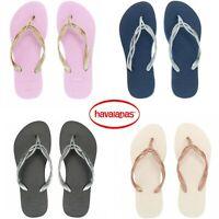 GENUINE Havaianas Brazil Slim Flash Sweet Sexy Flip Flops Sandals S/S19 *BNWT*
