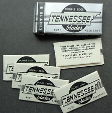 Vintage USA Razor Blades TENNESSEE white Wrappers Pack of 5