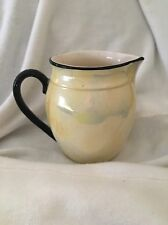 Vintage Small Pitcher Made In Czechoslovakia Yellow Iridescent 40