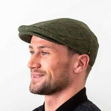 Irish Tweed Cap - Donegal Tweed - Green Salt & Pepper