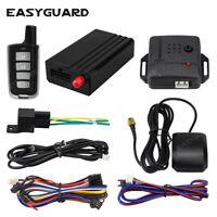 EASYAGUARD GPS tracker car alarm system APP control lock unlock shock warn kit