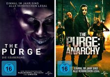 2 DVDs * THE PURGE TEIL 1 + 2 ( DIE SÄUBERUNG + ANARCHY ) IM SET # NEU OVP +