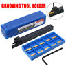MGEHR1212-2 Lathe Grooving Tool Holders Cut-Off With 10Pcs MGMN200 Inserts Part