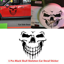 Black Skull Skeleton Car Hood Decal Rear Door Sticker For Truck Window Tailgate
