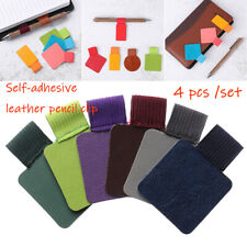Stationery Leather Pencil Elastic Loop Pen Clips Self-adhesive Pens Holder