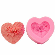 New 3d Rose Heart Cake Soap Mould Candle Mold DIY Creative Silicone Craft Mold