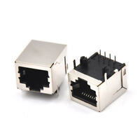 10Pcs/Set Rj45 Network Ethernet 8P 8C Female Socket Connectors 8Pin Pcb Mount Gw
