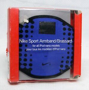 Nike Sport Armband Brassard For ALL Apple iPod Nano Models Blue/Black NOS