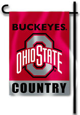 "Ohio State Buckeyes 13"" x 18"" Two-Sided Garden Flag (Country) Ncaa Licensed"
