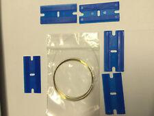 Molybdenum  Wire 2M 0.11mm, 5 Plastic Razor Blade FITS Samsung Htc iPhone