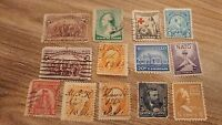 STAMPS Lot of 13  4 WASHINGTON 2 Cent 1865 & 1866 FREE Shipping