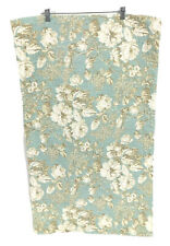 Laura Ashley 2 pc set Quilted Teal Tan Rose Floral King Pillow sham 100% Cotton