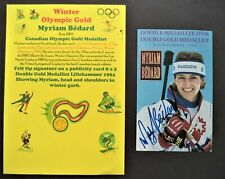 BEDARD MYRIAM CANADA WINTER OLYMPIC GOLD MEDAL 1992 SIGNED PROMOPHOTO