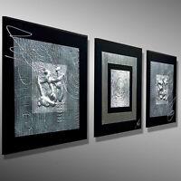 Moderne Malerei Original Bilder abstrakt Leinwand MICO 90x30 Acrylbild KUNST