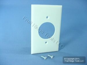 "Leviton White 1.60"" Receptacle Wallplate 20A 30A Locking Outlet Cover 80720-W"