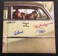 CHEECH AND CHONG SIGNED LOS COCHINOS ALBUM VINYL LP AUTOGRAPH BECKETT BAS COA 4