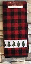St Nicholas Square Farmhouse Plaid Christmas Tree Hand Towel