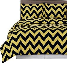 Chevron Printed Duvet Cover, 3PC Ultra-Soft 100% Cotton Duvet Cover Set