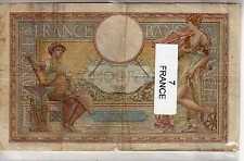 Lot de 7 billets de Banque de France tous différents - Banknotes