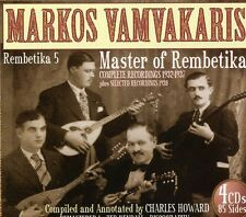 Rembetika 5-Master Of Rembetika 1932-193 - Markos Vam (2010, CD NIEUW)4 DISC SET