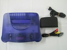 A9 Nintendo 64 console Midnight Blue Japan N64 w/adapter cable