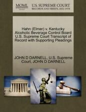 Hahn V. Kentucky Alcoholic Beverage Control Board U. S. Supreme Court...