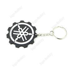 YAMAHA Keyring Keychain White Black Rubber Motorcycle Racing Collectible Gift