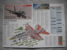 Cutaway Key Drawing of the McDonnell Douglas F/A18 Hornet