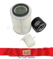 Oil/Air/Fuel Filter SET -Suzuki Sierra SJ410 (81-86) Maruti MG410(90-99)1.0 F10A