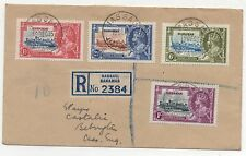 Bahamas. 1935 Silver Jubilee set. Fine used on cover.