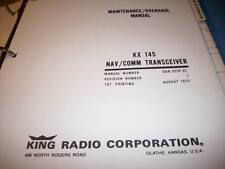 King   KX 145 NavCom Service manual