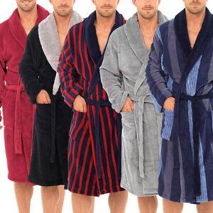 Hommes Supersoft Robe de Chambre Polaire Peignoir Homme Chaud Hiver Style