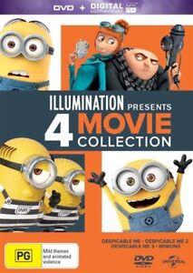 Illumination Present: Despicable Me 1 2 3 + Minions, NEW SEALED REGION 4