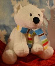 "Ty Pluffies ""Arctic"" Barnes & Noble exclusive 2008 8"" Polar Bear Machine Washabl"